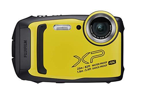 Fujifilm FinePix XP140 Waterproof Digital Camera w/16GB SD Card - Yellow (Renewed)