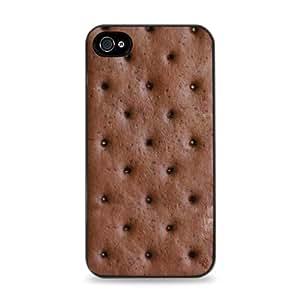 2008 Ice Cream Sandwich Apple iPhone 4/4S Silicone Case - Black