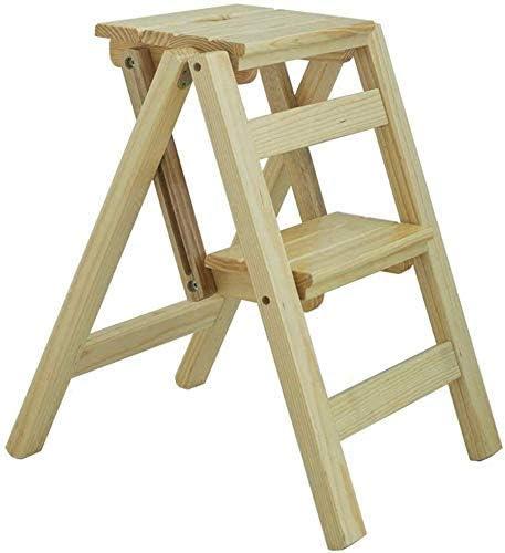 Easy and Multifunction Conveniente taburete plegable, cocina Escaleras de madera Taburetes pequeños para los pies Taburete