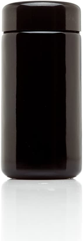 Infinity Jars 100 ml (3.3 fl oz) Tall Black Ultraviolet Refillable Empty Glass Screw Top Jar