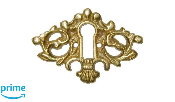 """Door Keyhole Cover Victorian Oval stamped  brass 1 7//8/"""" x 1 1//4/"""" per each"""