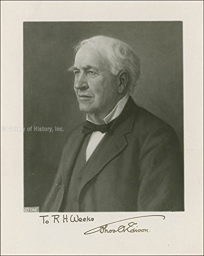 Thomas A. Edison Inscribed Photograph Signed