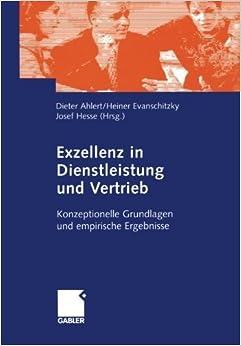 Book Exzellenz in Dienstleistung und Vertrieb: Konzeptionelle Grundlagen und empirische Ergebnisse (German Edition) (2002-02-12)