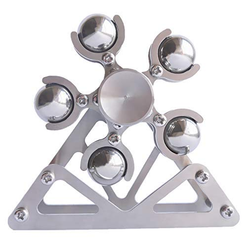DMaos, DIY Ferris wheel Colorful Fidget Spinner Tri Spin Finger Games Hand Toy Smooth Metal Stainless Steel Ceramic Stable Bearing Crusader Ultra Durable Mechanics EDC High Speed Mini (10 Balls)