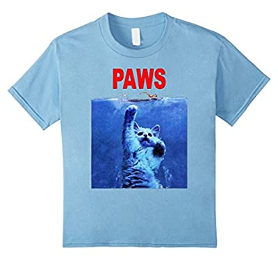 Funny T-Shirt - Paws Cat Kitten Jaws Parody Top Quality Tee