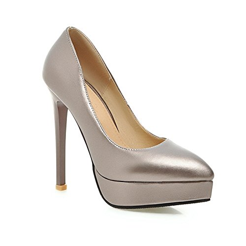 Leather Shoes Spikes Grey Adee Pumps Nappa Stilettos Ladies nATqpO