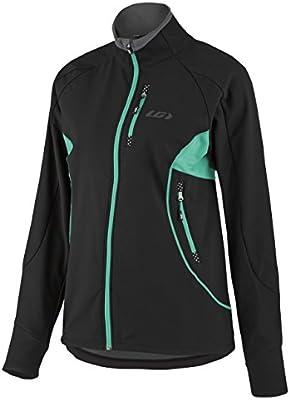 HG 1032338 Louis Garneau Womens Sport Enertec Jacket Black//Gray//Green Medium Louis Garneau