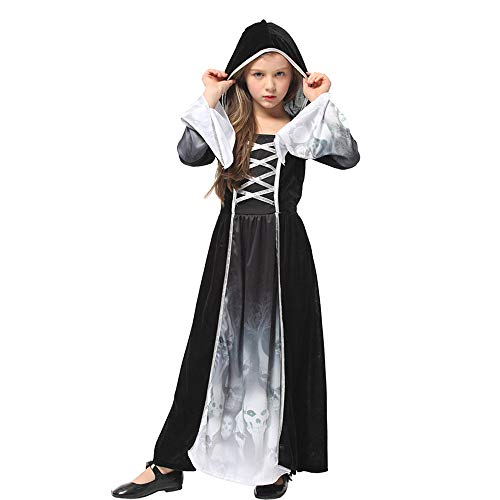 Ytwysj Costumes for Girls,Teenage Girls 2018 Halloween Cosplay Wicked Witch Sorceress Skeleton Costumes Dress