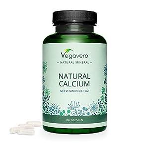 Calcium Vegavero® | 100% NATUREL – Non Synthétique | Avec Vitamine D3 + Vitamine K2 MK7 | Sans Additifs | Articulations…