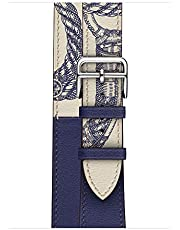 Microsonic 23352 Apple Watch Series 4 44mm Swift Leather Double Tour Strap Lacivert