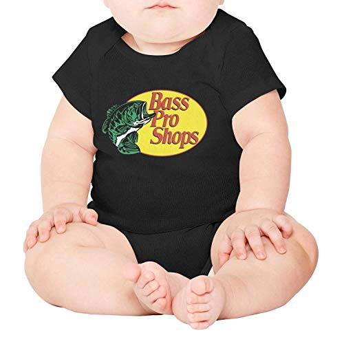 - Baby Organic Cotton Tights Suit Baby Bass-Pro-Shops-Fishing-Logo-Comfortable Soft Short Sleeve Bodysuit