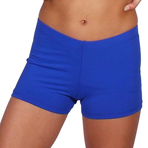 Gia Mia Women's Dance Short Size Medium Royal Blue ()