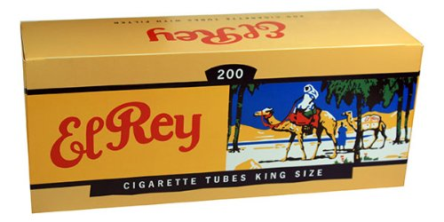 El Rey Red/Full Flavor RYO Cigarette Tubes - King Size 200ct Box (50 Boxes)