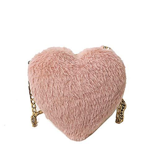 Black Mini De Cm Bolso Forma Pequeño Con Corazón Pink W7h15d5 Personalidad Peluche qO6w7U