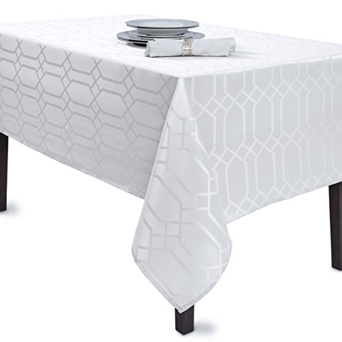 Benson Mills Solid Chagall Spillproof Fabric Tablecloth for sale  Delivered anywhere in USA
