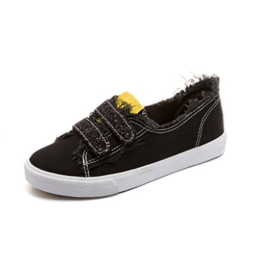 Paillettes Tela Casual Lazy UK3 Di Per Wild Basse Scarpe Black Scarpe Scarpe Tonigue UK7 Velcro Basse Light Bouth Shallow Aiutare qwPg0P