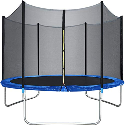 BestMassage Trampoline 10FT Round Jumping Table with Safety Enclosure Net Sping Pad Combo Bounding Bed Trampoline Fitness Equipment