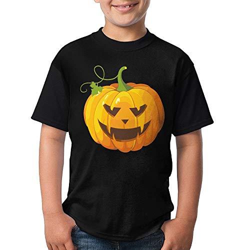 Adolescent Halloween Pumpkin Clip Art Tshirts, Boys Short Sleeve -