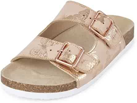 The Children's Place Kids' BG Butterfly lun Flat Sandal