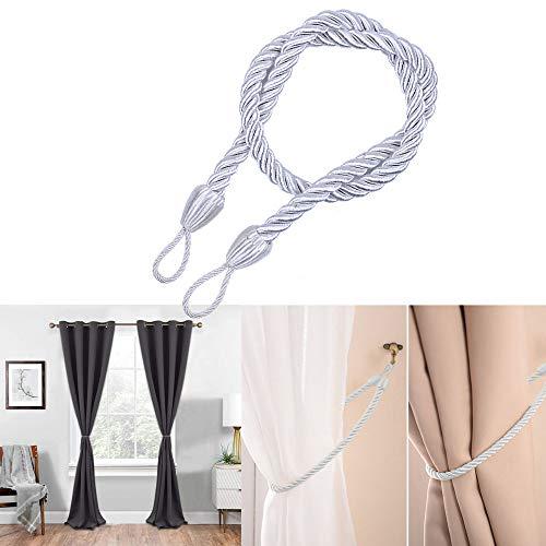 Guo Nuoen Door Window Curtain Accessory Tool Cord Rope Multicolor Buckle Tiebacks Braided Tie Backs from Guo Nuoen