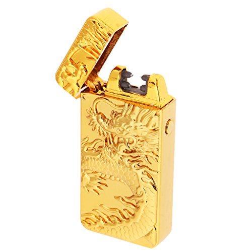 D DOLITY USB Windproof Electronic Cigarette Lighter Novelty Unique Gift Men Lighter - #8 by D DOLITY