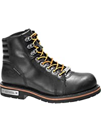 Men's Cranstons Motorcycle Boot, Black, 07.5 M US