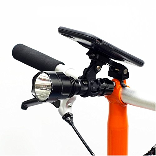 Gadget Station For BROMPTON Phone Mount Smartphone + Light Bracket FITS ANY PHONE by Trigo