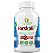 BodyPrime Formulas Forskolin w/ 40% & 20% Standardized Extracts - Appetite Suppressant & Weight Loss Aid - 260 mg per Capsule - 90 Capsules