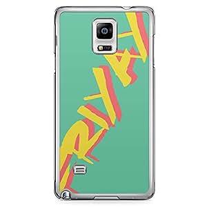 Samsung Note 4 Transparent Edge Phone Case Friyay Phone Case Teen 2D Note 4 Cover with Transparent Frame