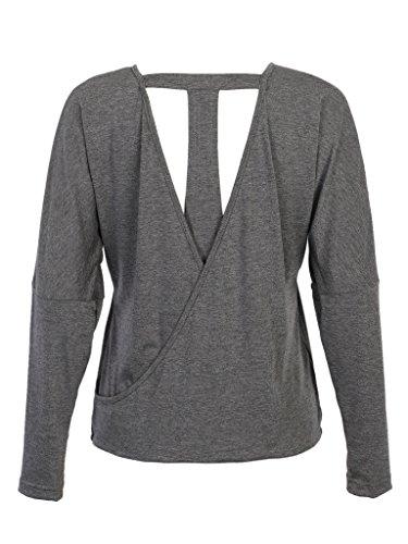 PERSUN Womens Versatile Backless T shirt