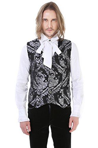 Brocard Gris Steampunk Gothique Victorien Pentagramme Homme Gilet 4qXUU