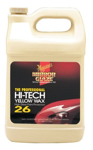 Meguiar's M26 Mirror Glaze Hi-Tech Yellow Wax - 1 Gallon