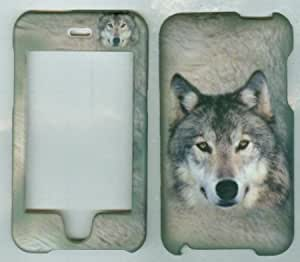 Cerhinu White Wolf Apple Ipod Touch 2nd 3rd Generation Case Hard Snap-on Cover Rubberized Touch Faceplates
