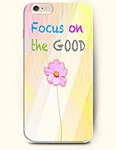 OOFIT Apple iPhone 6 (4.7 inches) Case - Life Inspirational Quotes Focus On The Good / Pink Flower