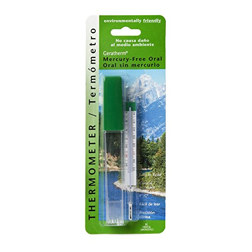 ee Oral Glass Thermometer (Mercury Free Oral Thermometer)
