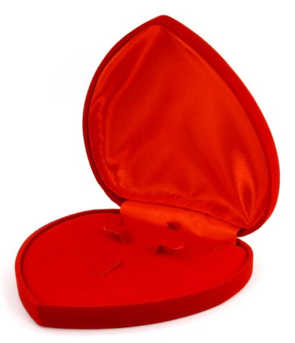 Velvet Heart Shaped Gift Box - Endearing Heart-Shaped Velvet Jewelry Gift Box in Red for All Your Gift-Giving Occasions to Your Love Ones #E1FArd