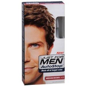 JUST FOR MEN Autostop Couleur des cheveux, brun moyen