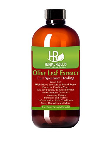 Herbal Results Olive Leaf Extract, Super Strength 8 Ounce Liquid Tincture