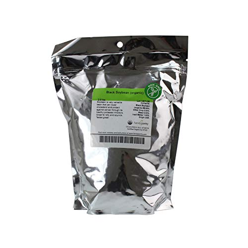 Organic Black Soy Beans -2.5 Lb - Black Soybeans - Non-GMO - For Cooking, Making Tofu & Soymilk/Soya Milk