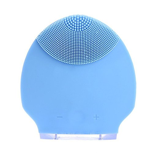 Beauty Instrument (TOOGOO(R) Silicone Skin Mini Ultrasonic Rechargeable Facial Cleansing Brush Beauty Instruments BLue)