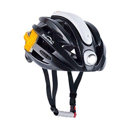 Magicshine MJ-898 Commuter Bike Helmet with Arrow Turn Signal Lights   High Power Front Light   Speed Sensor Rear Light   Waterproof Bicycle Helmet USB Rechargeable   CE/EN Approval