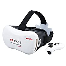 "LIKEE VR Headset VR Glasses Virtual Reality 3D Games Glasses VR Box With Second Generation Bluetooth Controller for iPhone 7/6s/6 plus/6/5s/5c/5 Samsung Galaxy s5/s6/note4/note5 and Other 4.7""-6.0"""