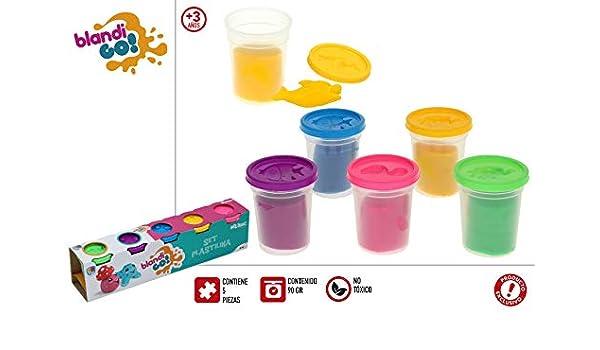 Color Baby Pack 5 Botes DE PLASTILINA 90 GRS Unidad: Amazon.es: Juguetes y juegos