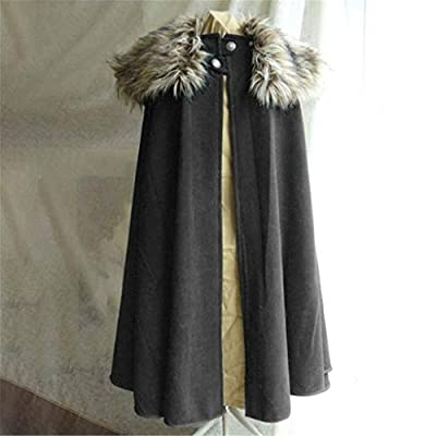 Eoeth Men's Fashion Celtic Wool Cape Coat Vintage Outwear Gothic Game of Thrones Jacket Overcoat Windbreaker: Clothing