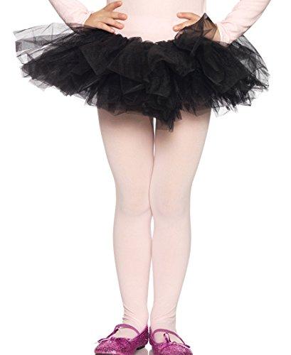 Leg Avenue 4900 Women's Organza Tutu Petticoat - Black - One (Leg Avenue Organza Tutu)