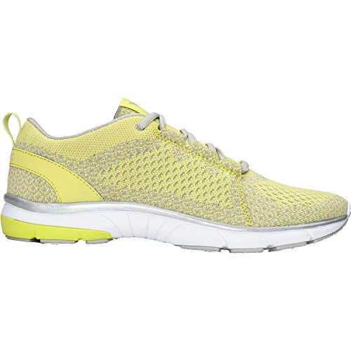 Vionic Womens Flex Sierra Lace Up Sneaker Yellow Size 9 Wide by Vionic