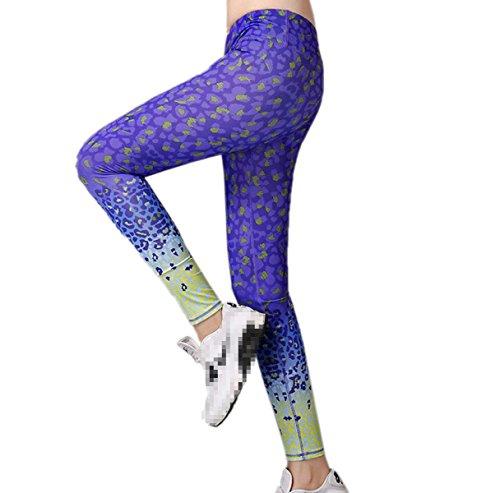 Fitness Yoga Pantalones Deportivos Printed Stretch Leggings Tights 05