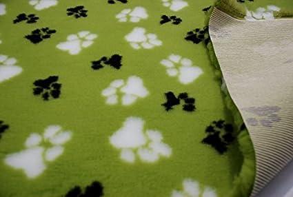 CRS Fur Fabrics Profesional Antideslizante Veterinaria Perro Cachorro Mascota Cama LG Paws – Verde