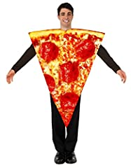 Why just eat a pizza when you can have more fun wearing it! Presenting you the tastiest pizza in town! With its realistic detailing, you are sure to look like an edible looking tasty treat in the next bash! Features a tunic shaped like a pizz...