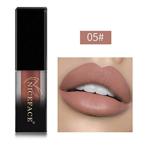 - LtrottedJ New Lip Lingerie Matte Liquid Lipstick Waterproof Lip Gloss, Makeup 18 Shades A (E)